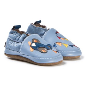 Image of Melton Airplane Leather sko Blue 0-6M 16-19 (3060377951)