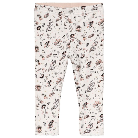 IKKS White Llama and Flower Print Frill Reversible into Pink Leggings 19