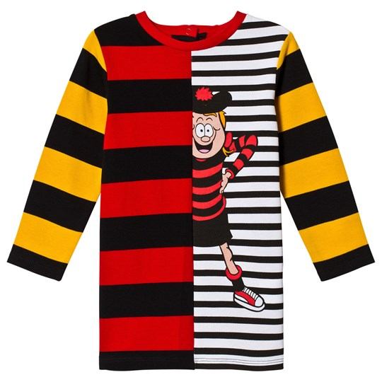 Stella McCartney Kids Multi Color Striped Dress 6562 - Parrot Red/Black