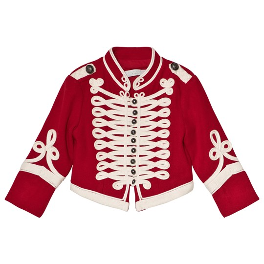 Stella McCartney Kids Red Will Military Jacket 6564 - Parrot Red