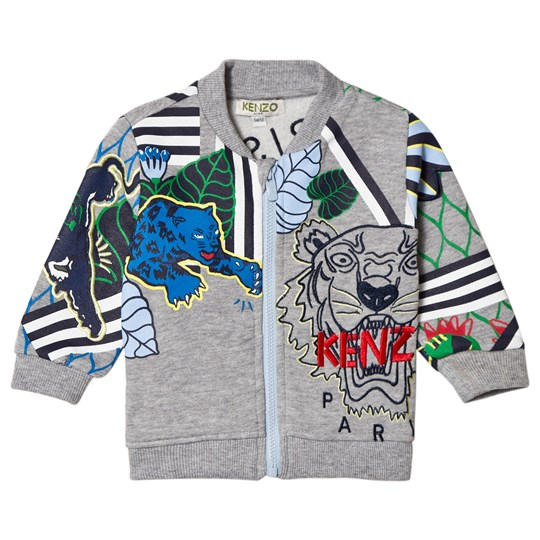 Kenzo Grey Tiger and Logo All Over Sweat Jacket 25