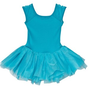 Image of Mirella Blue Bow Back Embroidered Mesh Tutu Dress 2-4 years (3060378541)