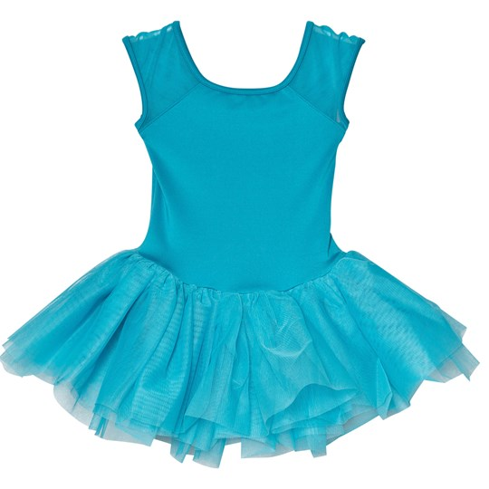 Mirella Blue Bow Back Embroidered Mesh Tutu Dress Marine