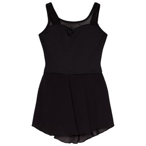 Image of Mirella Black Embroidered Mesh Scoop Back Leotard Dress 6-7 years (3060378557)