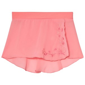 Image of Mirella Coral Embroidered Georgette Wrap Skirt 2-4 years (3060378593)