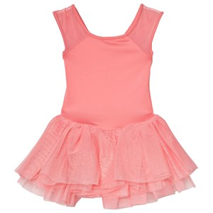 Image of Mirella Coral Bow Back Embroidered Mesh Tutu Dress 2-4 years (3060378535)