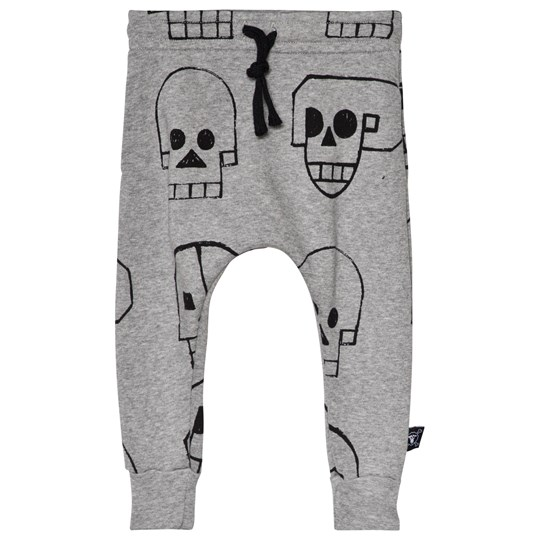 NUNUNU Skull Robot Baggy Pants Heather Grey Grey