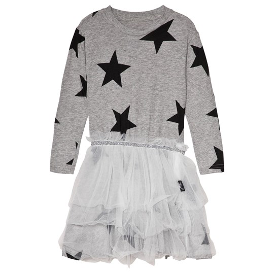 NUNUNU Star Tulle Dress Grey