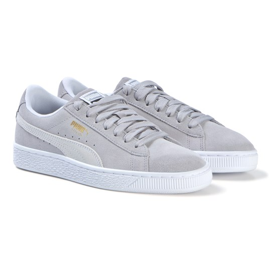 Puma Grey Suede Classic Lace Sneakers Forest Night
