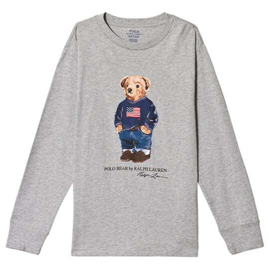 Ralph Lauren Grey Teddy Print Long Sleeve Tee 004