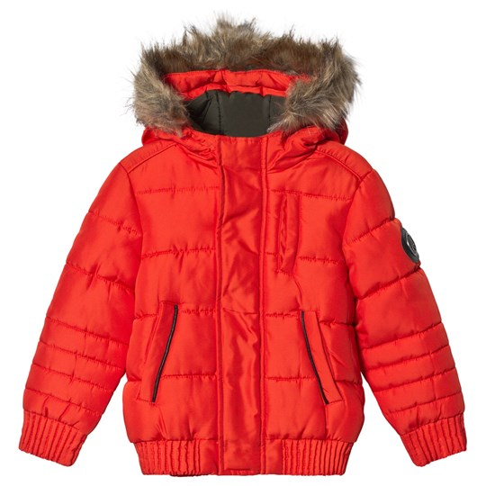 IKKS Orange Padded Hooded Coat 76