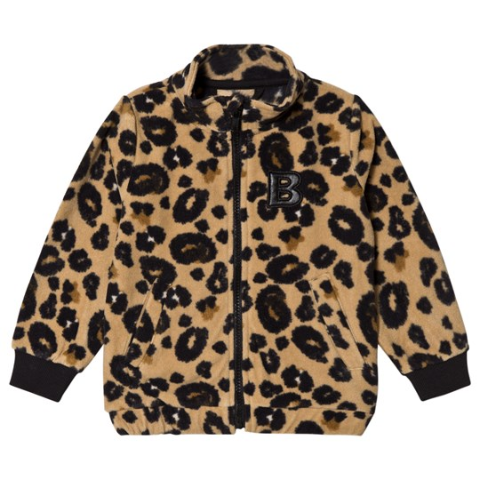 The BRAND Leopard Print Fleece Bomber Jacket