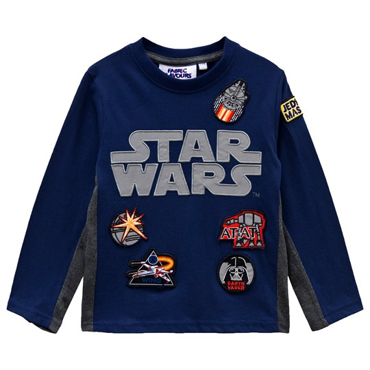 Fabric Flavours Navy Star Wars Long Sleeve Tee Navy