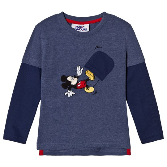 Fabric Flavours Blue Mickey Mouse Long Sleeve T-Shirt Blue
