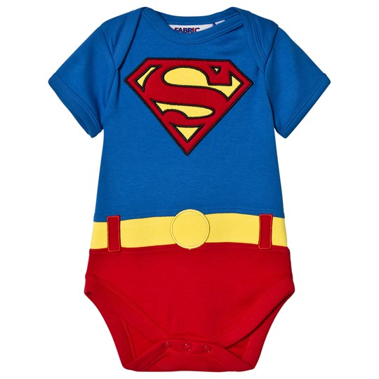 Fabric Flavours Blue and Red Superman Baby Body Blue