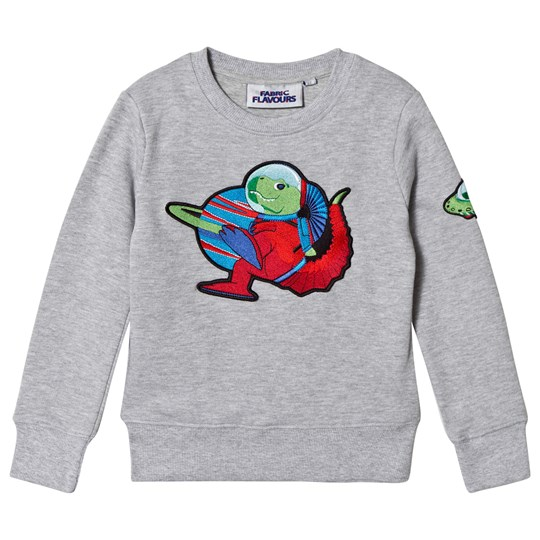 Fabric Flavours Grey Out Of This World Dino Sweatshirt Black