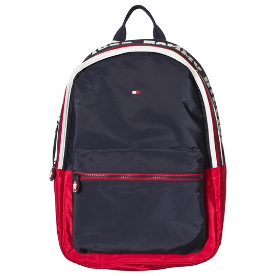 Tommy Hilfiger Navy and Red Branded Backpack 901