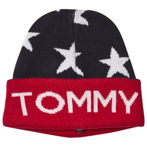 Image of Tommy Hilfiger Navy Star Branded Branded Beanie L-XL (10-16 years) (3060378273)