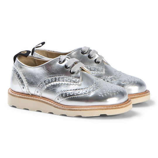 Young Soles Silver Leather Brando Brogues Silver