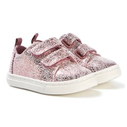 Toms Pink Shimmer Lenny Sneakers