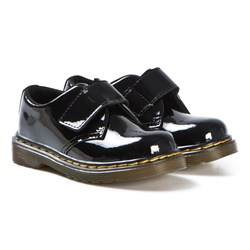 Dr. Martens Black Patent Leather Kamron Buckle Shoes