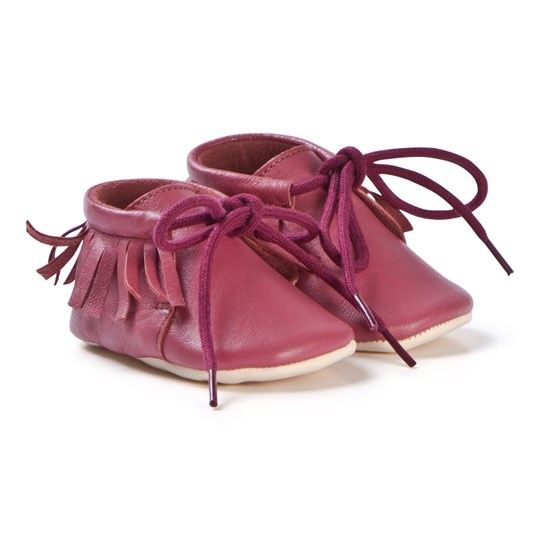 Easy Peasy Meximoo Moccasin Crib Shoes Burgundy 084