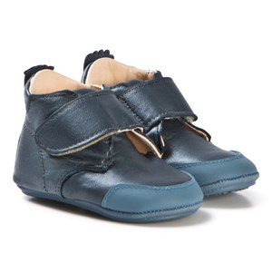 Image of Easy Peasy Blue Shimmer Velcro First Walker Ivel Booties 18 (UK 2) (3060378973)