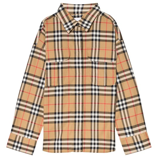 Burberry Antique Yellow Button-Down Check Shirt ANTIQUE YELLW IP CHK