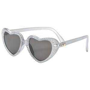 Image of Monnalisa Silver Diamante Heart Sunglasses (3061220845)