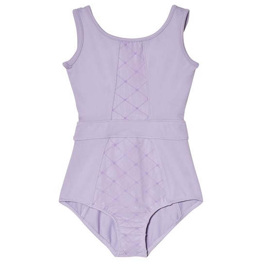 Bloch Purple Jayla Diamond Mesh Paneled Tank Leotard Lilac
