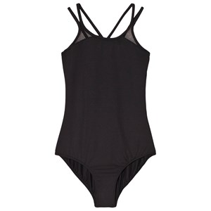 Image of Bloch Black Daisy Mesh Double Cross Back Cami Leotard 12 years (3060378507)
