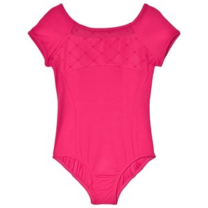 Image of Bloch Berry Brielle Diamond Flocked Mesh Front and Back Leotard 4-6 years (3061221119)