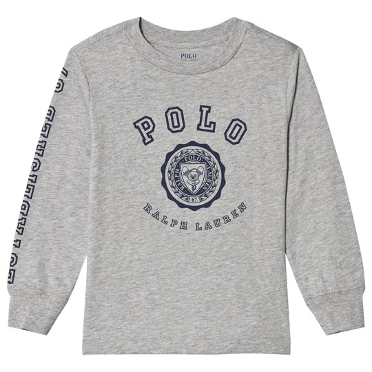 Ralph Lauren Grey Polo Graphic Long Sleeve Tee 002