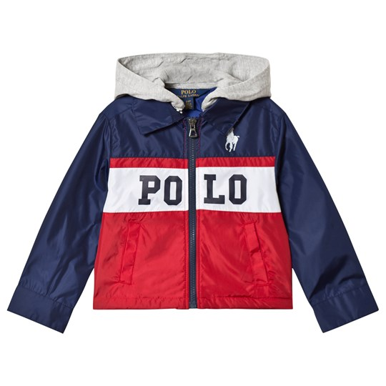 Ralph Lauren Red POLO Logo Padded Hooded Jacket 001