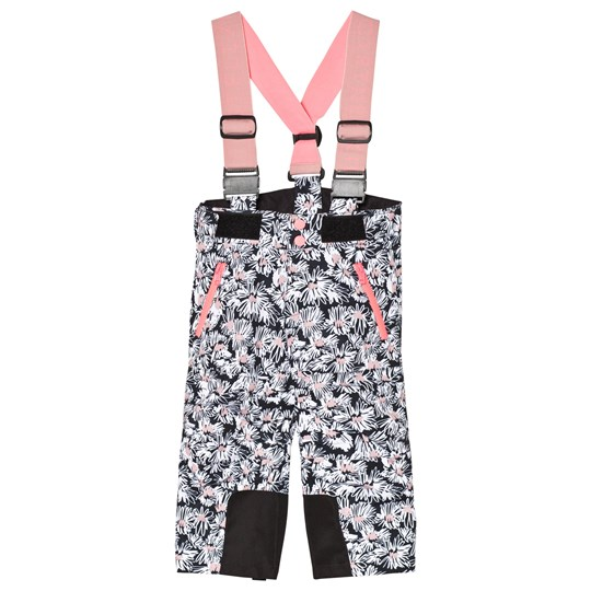 Stella McCartney Kids Black Ski Pants with Daisy Print 1076 - Daisies Pr