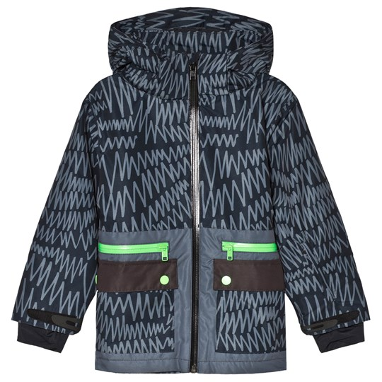 Stella McCartney Kids Black Snow Ski Jacket 1082 - Scribble Ski Pr