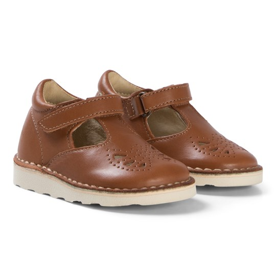 Young Soles Läder Poppie First Walker Mary Janes Chesnut Brown CHESTNUT BROWN LEATHER