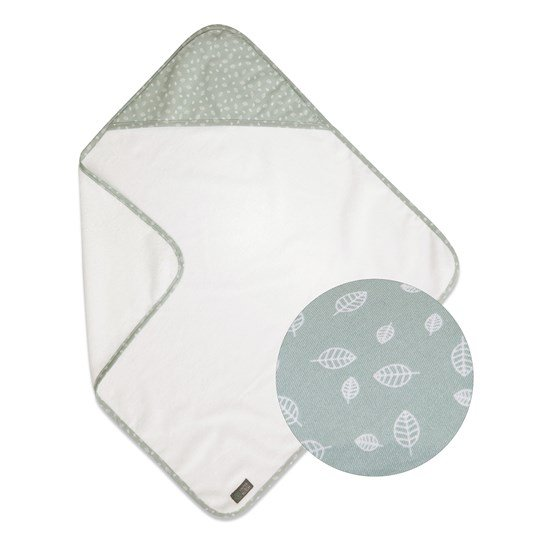 Vinter & Bloom Nordic Leaf Hooded Towel Mild Green Mild Green