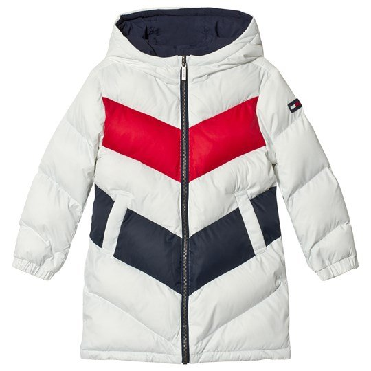 Tommy Hilfiger White and Navy Reversible Coat 002