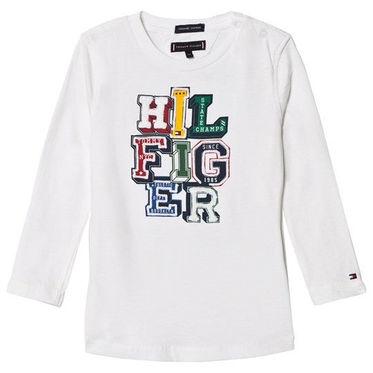 2ff4a3ba3 Tommy Hilfiger - White Branded Long Sleeve Tee - Babyshop.com