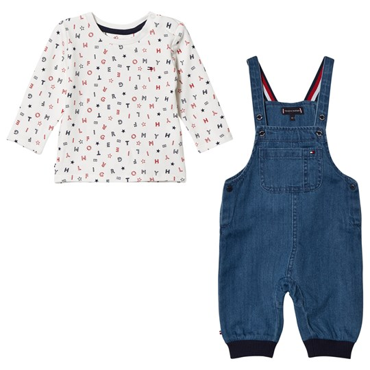 Tommy Hilfiger Infants Branded Top & Overalls Set 911