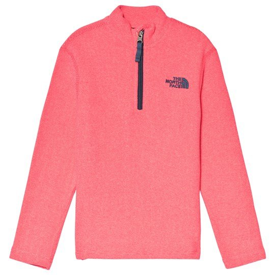 The North Face Pink Glacier 1/4 Zip Micro Fleece Mid Layer ATOMIC PINK