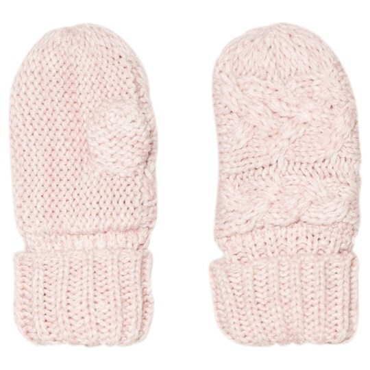 GAP Pink Dust Cable Knit Mittens Pink Dust