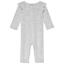 GAP Grey Heather Ruffle Baby Body
