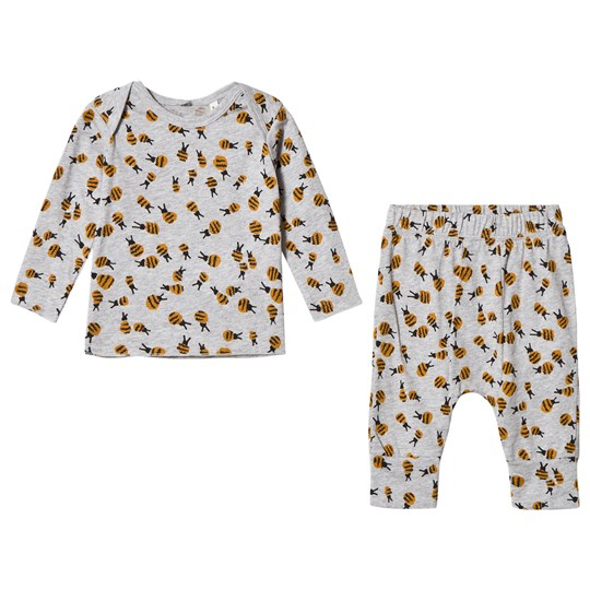 Stella McCartney Kids Grey Buster and Macy Top and Bottoms Insect Set 1451 - Bees Pr
