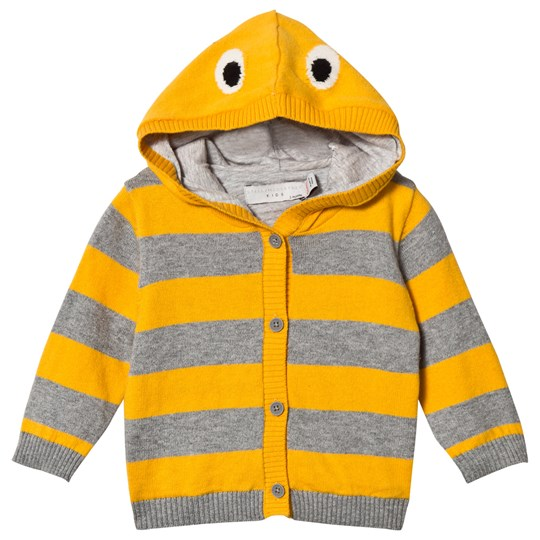 Stella McCartney Kids Yellow and Grey Stripes Vita Cardigan 1450 - Mustard/Thunder