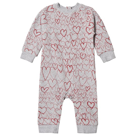 Stella McCartney Kids Grey One-Piece with Hearts 1453 - Doodle Hearts Pr
