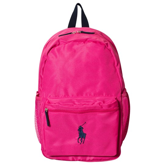 Ralph Lauren Pink Nylon Backpack with Black Detailing Pink