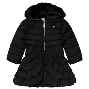 Image of Le Chic Black Coat with Ruffled Bottom 104 (3-4 years) (3065522471)