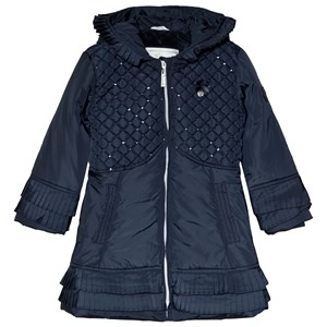 Image of Le Chic Navy Sequin Quilted Coat 152 (11-12 years) (3065522519)